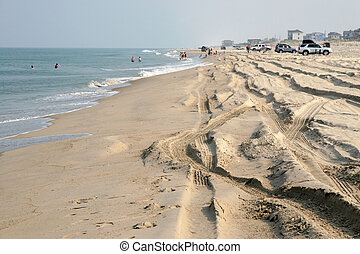 Outer Banks Beach, North Carolina - Parts of the North...