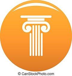 Outer column icon vector orange