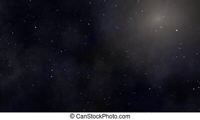 Outer Space Animation - A black cosmos with twinkling stars...