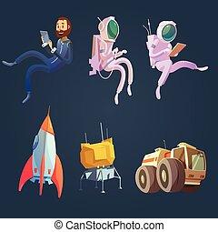 Outer Space Cartoon Set