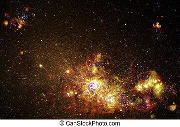 Outer space. - Galaxy NGC 4214 NASA and the Hubble Heritage...