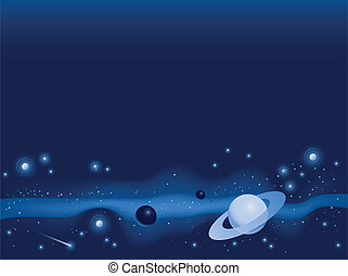 Outer Space - Illustration of objects in deep space.