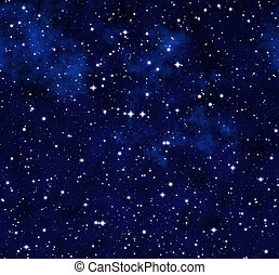 starry sky at night - outer space or starry sky at night