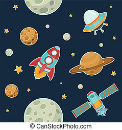 Outer Space - Space Seamless Pattern
