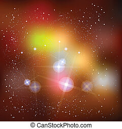 Outer Space Supernova - Imagine vector art of outer space...