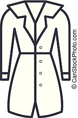 Outerwear line icon concept. Outerwear vector linear...