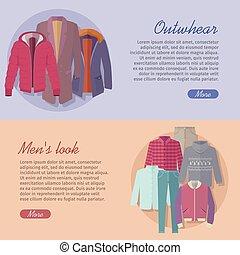 Outerwear Mens Look Web Banner. Autumn Winter - Outerwear...