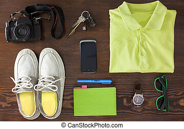 Outfit of young woman or guy