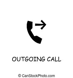 Outgoing call flat vector icon