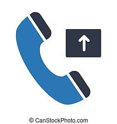 outgoing call glyph color vector icon