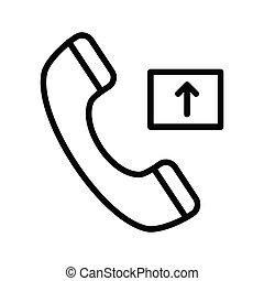 outgoing call thin line vector icon