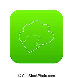 Outgoing database icon green