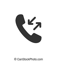 Outgoing, incoming call icon. Vector illustration. Flat design.
