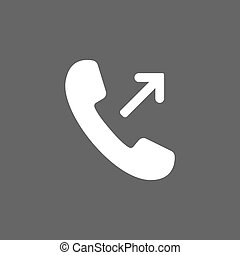 Outgoing, incoming call icon. Vector illustration. Flat...