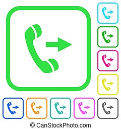 Outgoing phone call vivid colored flat icons