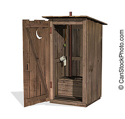 Outhouse -  Outhouse - 3D render