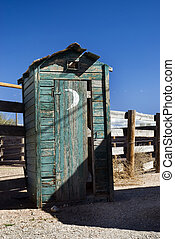Outhouse - An old outhouse in the desert.