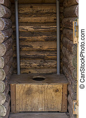Outhouse - Rustic wooden outhouse