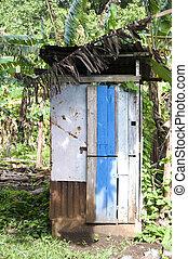 outhouse toilet bathroom zinc house nicaragua - outhouse ...