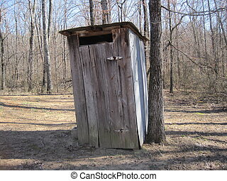 Outhouse toilet in Arkansas