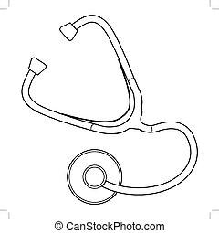 outil médical, stéthoscope