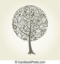 outillage, arbre
