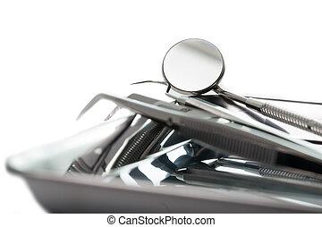 outillage, dentiste, accessoire