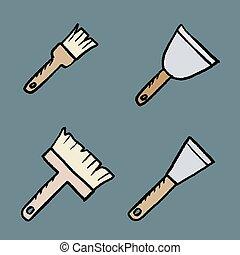 outils, emmagasiner tableau