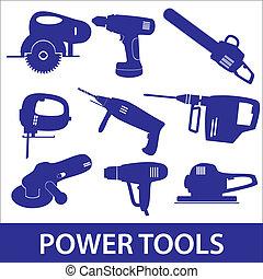 outils, ensemble, eps10, puissance, icône
