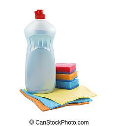 outils, ensemble, nettoyage