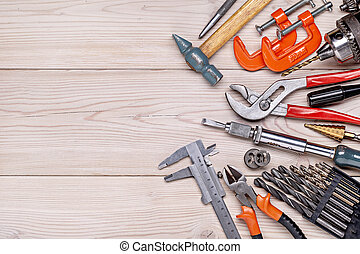 outils, hommes, housework., style., locksmithing