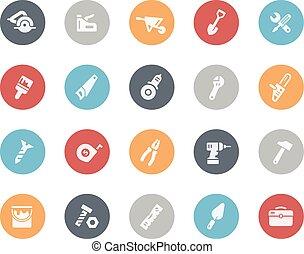 outils, icônes, classiques, --