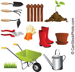 outils, jardin
