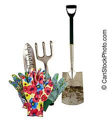 outils, jardin, variété
