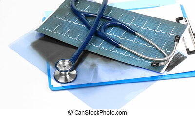 outils médicaux, sur, a, deak