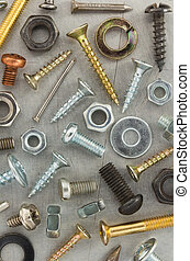outils, métal, matériel, fond