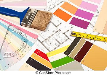 outils, rénovation, accessoires, maison