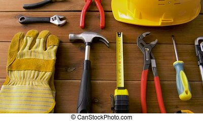 outils, travail, conseils, différent, bois