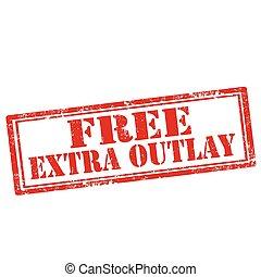 outlay, extra, libre