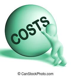 outlay, medios, precio, gastos, esfera, costes