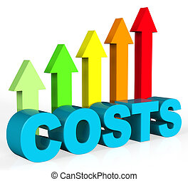 outlay, subida, aumento, costes, finanzas, exposiciones