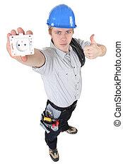 outlet., 電工, 提出