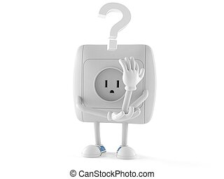 Outlet character with question mark