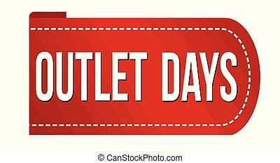 Outlet days banner design