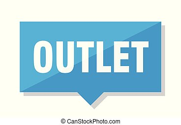 outlet price tag - outlet blue square price tag