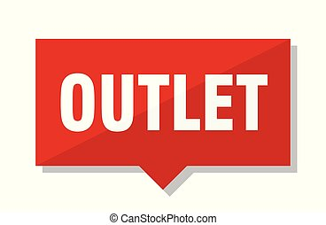 outlet red tag - outlet red square price tag