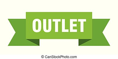 outlet ribbon. outlet isolated sign. outlet banner