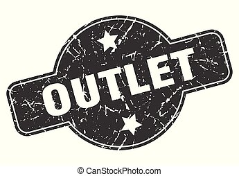 outlet round grunge isolated stamp