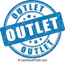 Outlet rubber stamp