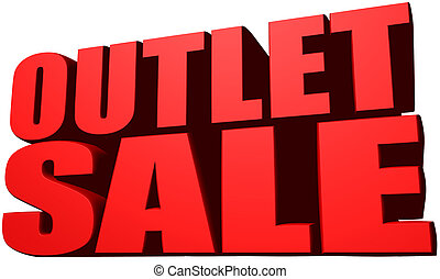 Outlet sale image.